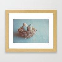 Spring Nest Framed Art Print