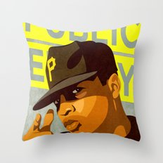 Chuck D Throw Pillow
