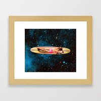 Pleiadian Surfer Framed Art Print