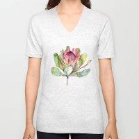 Protea Flower Unisex V-Neck