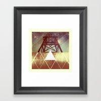 Elemental Framework Framed Art Print