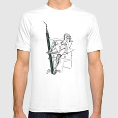 what a big pencil you have White Mens Fitted Tee SMALL