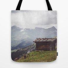 Alpine hut Tote Bag