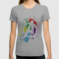 Avenge Paint Womens Fitted Tee Athletic Grey SMALL