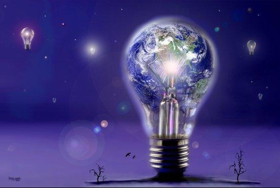 The sun is a light bulb Art Print