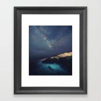 Starry Night On The Coas… Framed Art Print