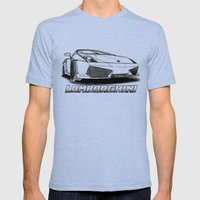 Lamborghini Line Drawing Mens Fitted Tee Tri-Blue SMALL