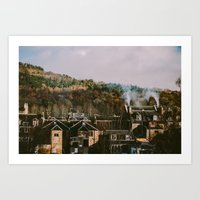 Scottish Rooftops Art Print