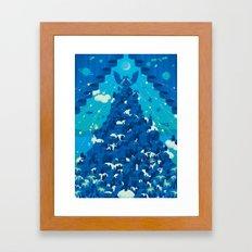 Curtain of Night Framed Art Print