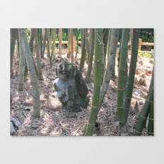 Buddha in the Woods Canvas Print
