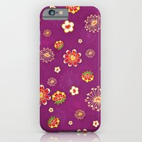 iPhone & iPod Case featuring Purple Burst by Junoon Designs