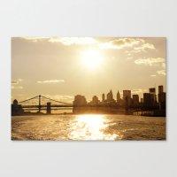 New York City Sunset Canvas Print