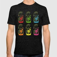 matryoshka dolls Mens Fitted Tee Tri-Black SMALL