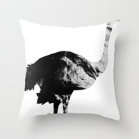 Ostrich (The Living Things Series) Throw Pillow