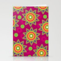 Moroccan Flower Wine Stationery Cards