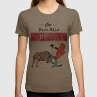 The Sun Also Rises Womens Fitted Tee Tri-Coffee SMALL