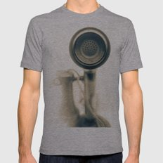 Can you hear me.....now? Mens Fitted Tee Athletic Grey SMALL
