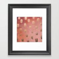 Copper Splotch Framed Art Print