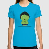 ChibizPop: It ain't easy being green! Womens Fitted Tee Teal SMALL