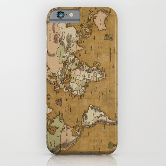 World Treasure Map iPhone & iPod Case