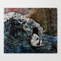 Crawled Out Of The Sea  Canvas Print