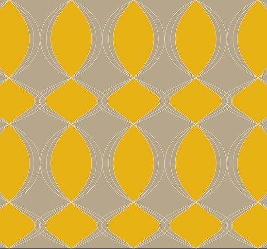 Geometrias en naranja Art Print