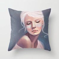 Her Cheeks Glowed with the Constellations of Lovers Throw Pillow