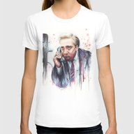 Nicolas Cage Womens Fitted Tee White LARGE
