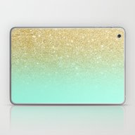 Modern Gold Ombre Mint G… Laptop & iPad Skin
