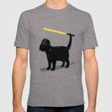 Cat Vader Mens Fitted Tee Tri-Grey SMALL