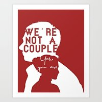 Not a couple Art Print