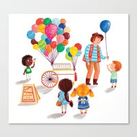 Balloon Stand Canvas Print