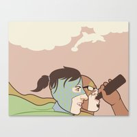 We Could Be Heroes Canvas Print