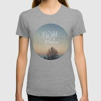 WildandFree Womens Fitted Tee Tri-Grey SMALL
