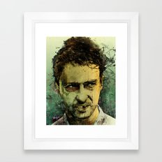 Schizo - Edward Norton Framed Art Print