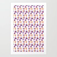 retro triangle Art Print