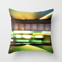 Light show of stairs Throw Pillow