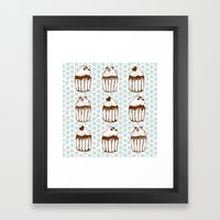 Retro Cupcakes Framed Art Print