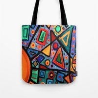 Abstract Sun Tote Bag