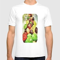 Taste The Rainbow Mens Fitted Tee White SMALL