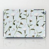 Peonies Winter Mist iPad Case