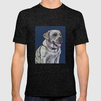 Gracie The Labrador Mens Fitted Tee Tri-Black SMALL