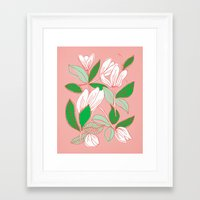 Floating Tulips Framed Art Print
