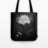 Solar Owls Moon  Tote Bag