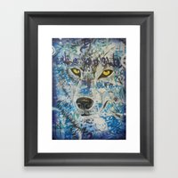 Eyes Of The Lone Wolf Framed Art Print