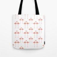 Flamingos - Tropical Bir… Tote Bag