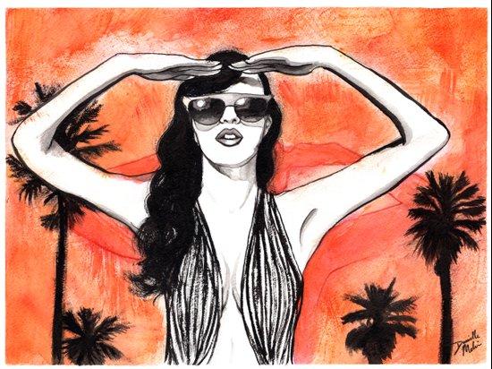 LA Burn Art Print