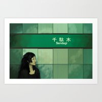 Subway Girl Art Print