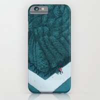 iPhone Cases featuring Blue Silent by Andrea Dalla Barba
