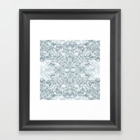 Lace Geometric // Kaleid… Framed Art Print